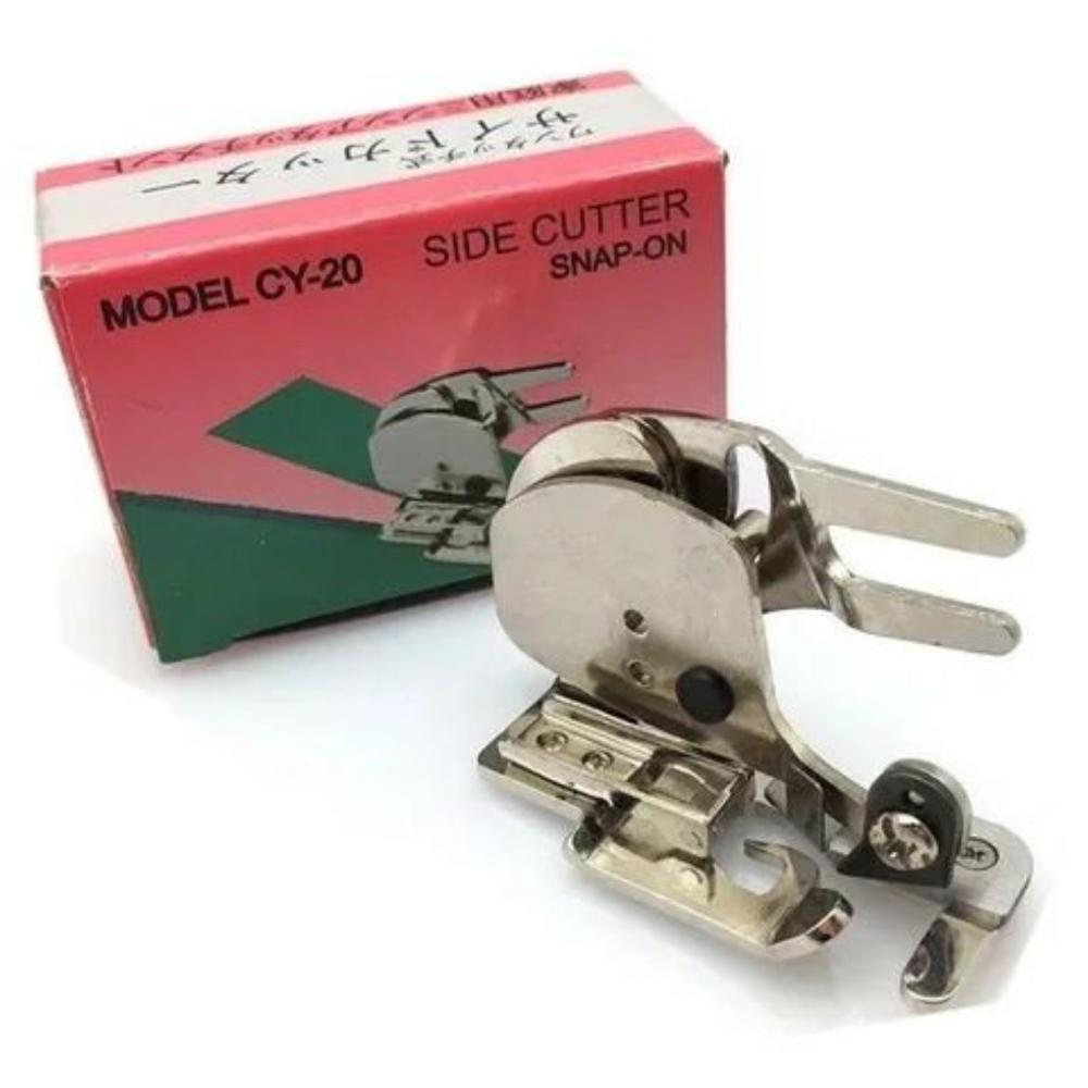 Calcador Overlock Faca Corte Lateral + Haste Troca Rápida