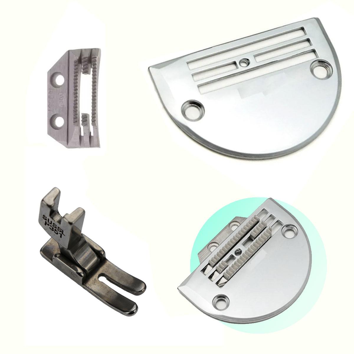 Chapa Dente E Calcador 4 Carreiras Industrial Costura Pesada