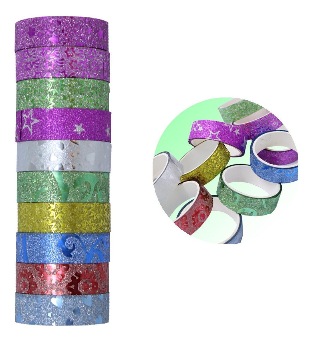 Fita Adesiva Decorativa Washi Tape Scrapbook 10 Unid