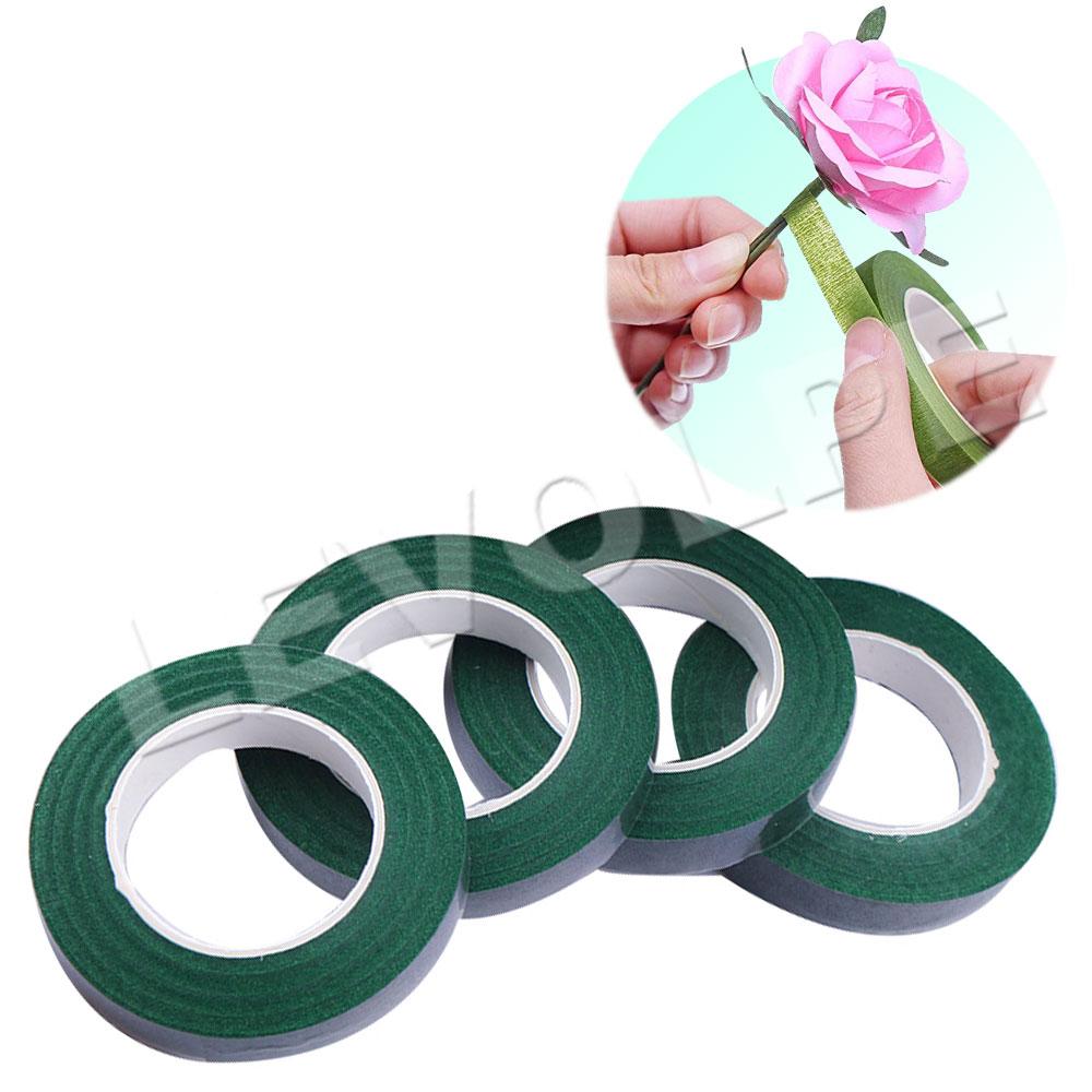 Fita Floral Adesiva Verde Artesanato Arranjo - 10 Unidades