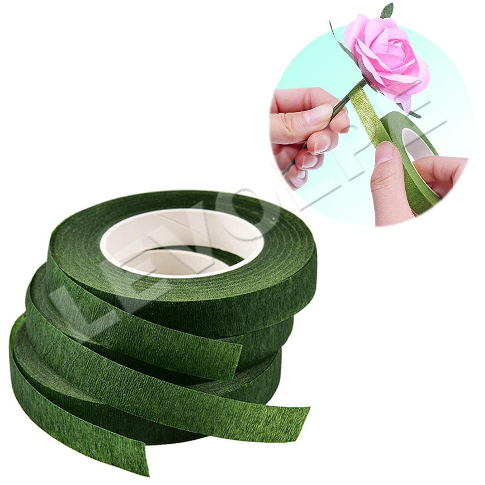 Fita Floral Adesiva Verde Artesanato Arranjo - 3 Unidades