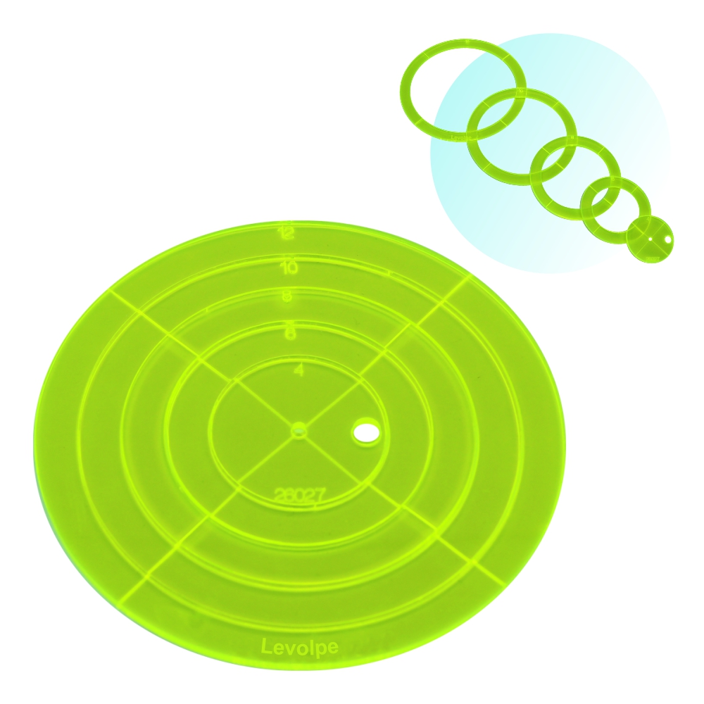 Gabarito Circular Par 4-6-8-10 e 12cm Patchwork Quilting