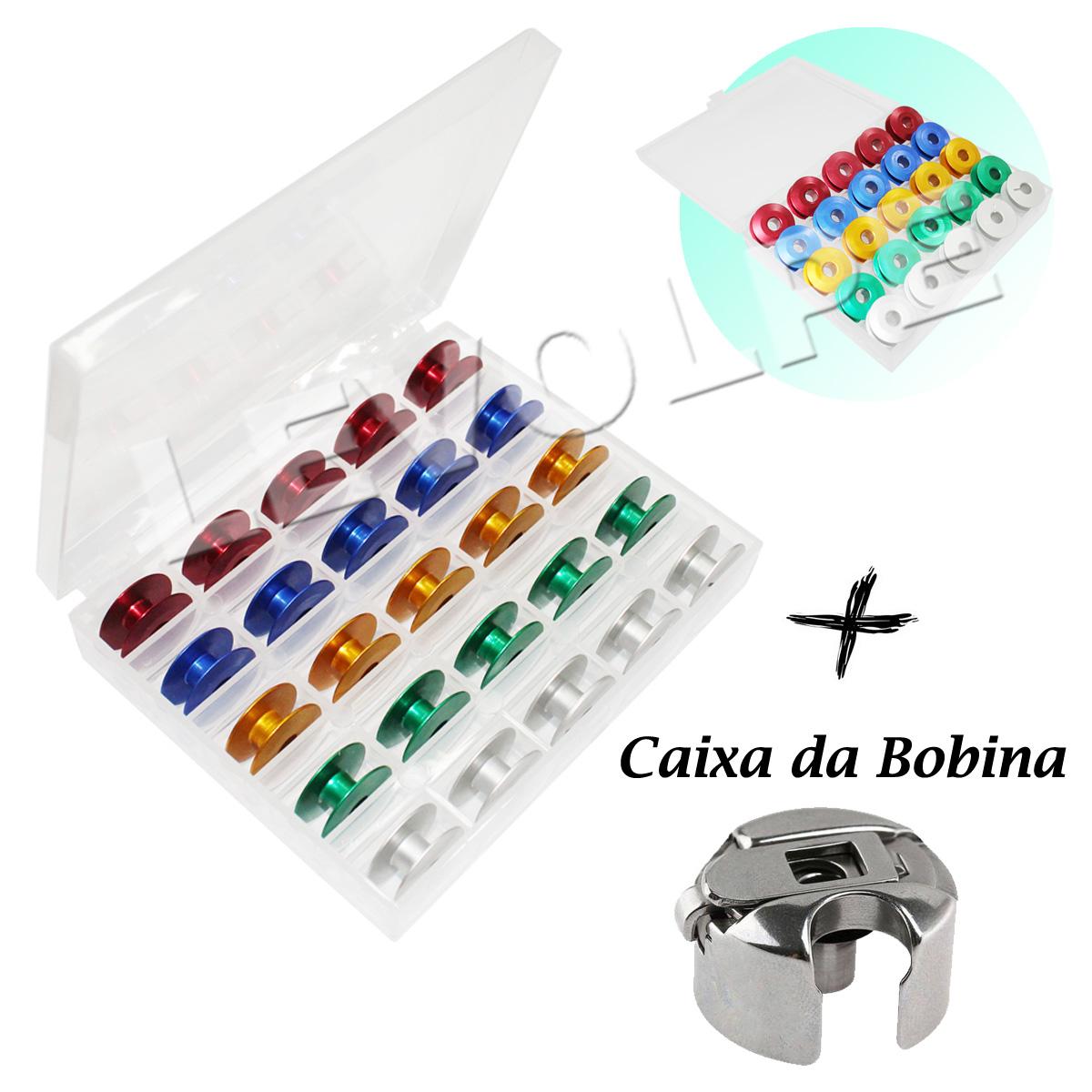 Kit 25 Bobinas Carretilha Reta Industrial + Caixa Da Bobina