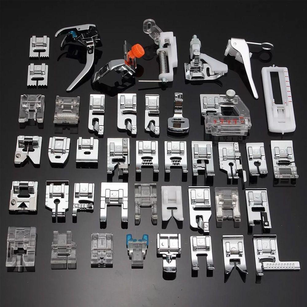 Kit 42 Calcadores + Calcador Overlock Com Faca + Haste Baixa