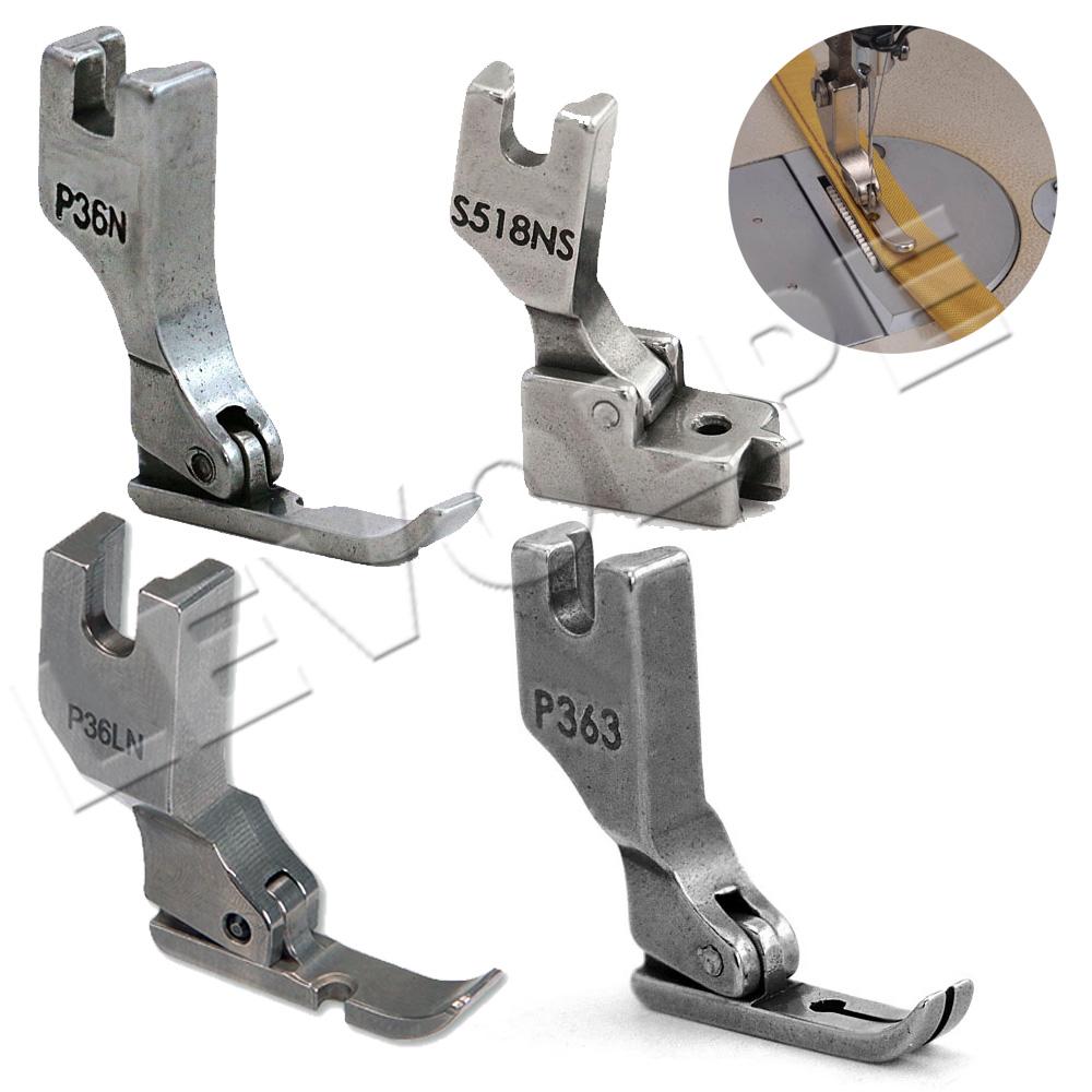 Kit 4 Calcador Para Pregar Zíper Em Maquina Reta Industrial