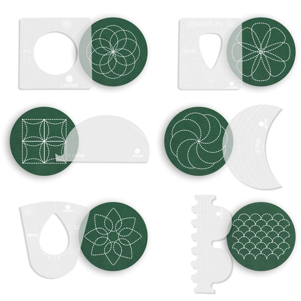 Kit 6 Réguas Para Quilting Acrílico Patchwork Costura Criativa