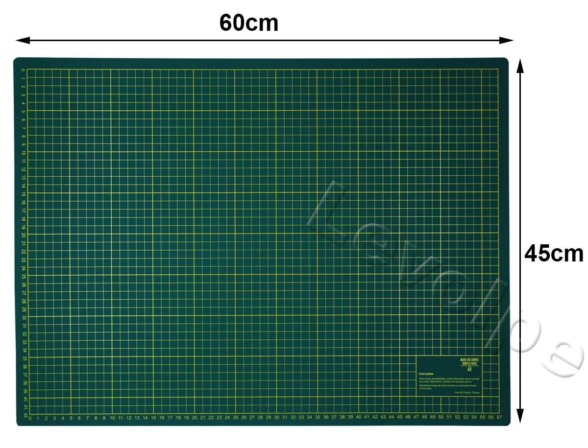 Kit Base De Corte 60x45 + Régua 15x60 + Cortador 45mm Taiwan