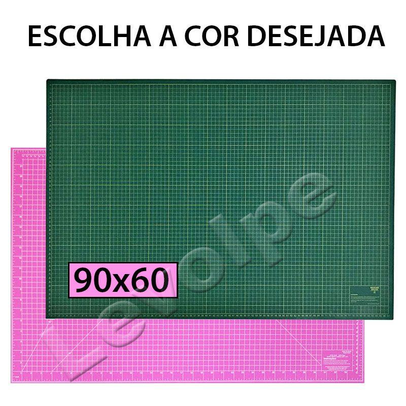 Kit Base De Corte 90x60 + Régua 60 + Cortador + Tesoura + Mini Clips