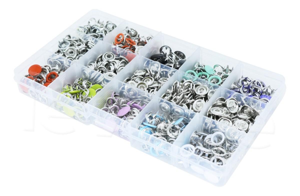 Kit Botões De Metal Tic Tac Sortido 200 Botões