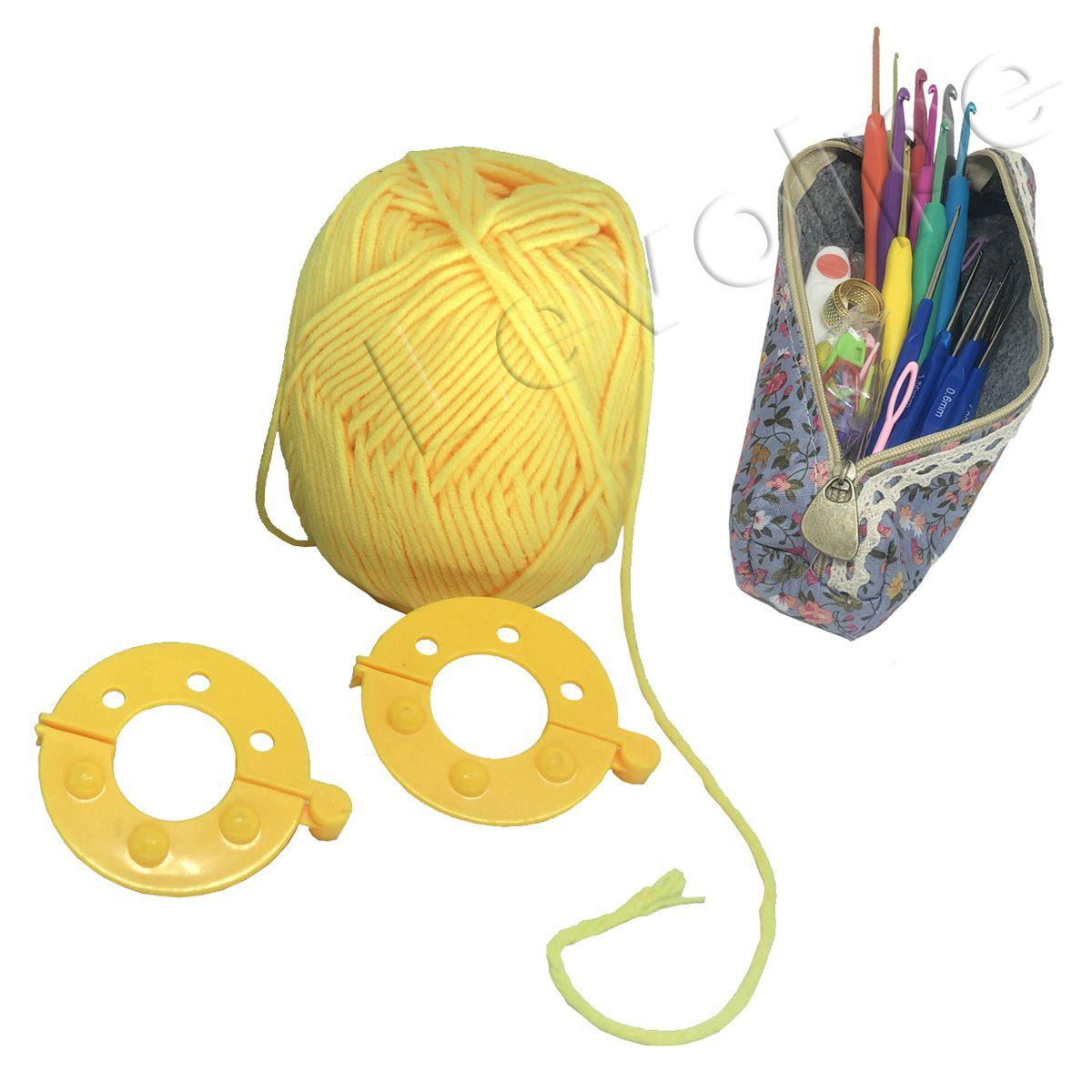 Kit Crochê Premium 16 Agulhas Com Acessórios + Estojo