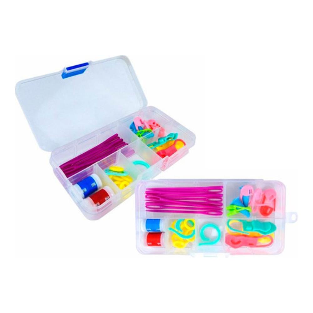 Kit Marcadores De Ponto De Plásticos Para Crochê Artesanato
