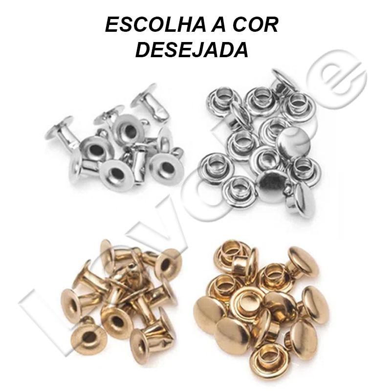 Kit Rebite Pressão Nº 1/2 Para Roupas - 1000 Peças - Baxmann