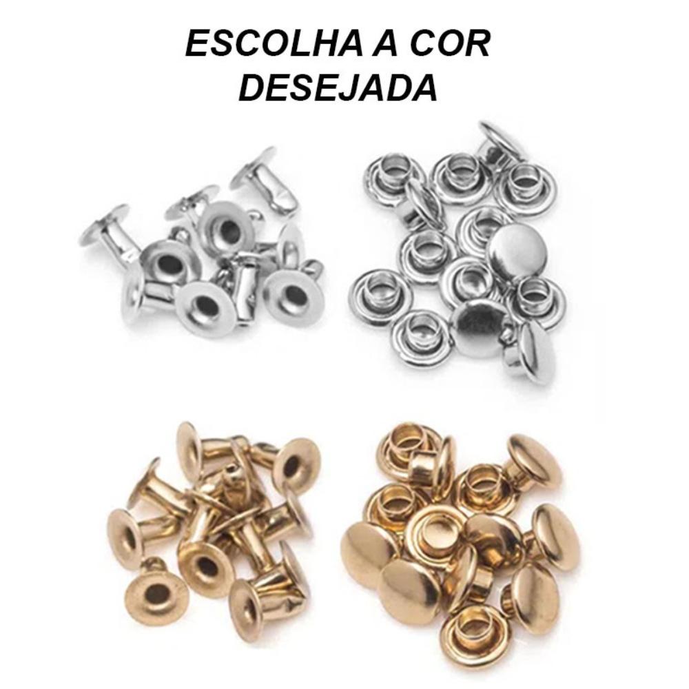 Kit Rebite Pressão Nº 4 Para Roupas - 1000 Peças - Baxmann