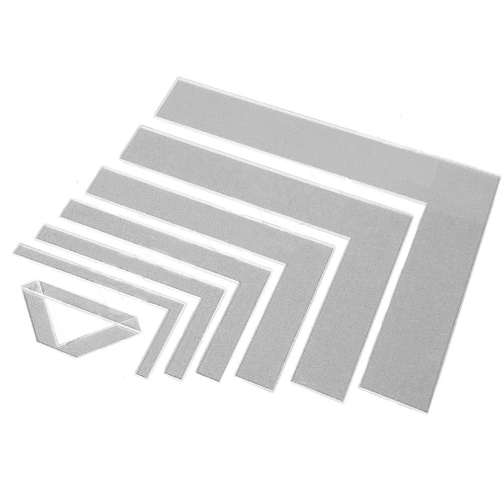 Kit Reguas Esquadros Encadernação E Cartonagem Fio De Cabelo