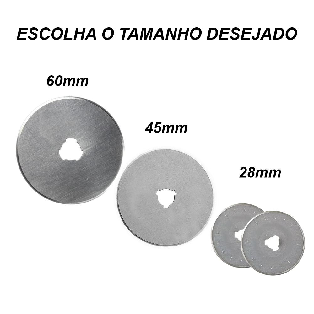 Lamina Para Cortador Circular Profissional Patchwork - ESCOLHA O TAMANHO DESEJADO