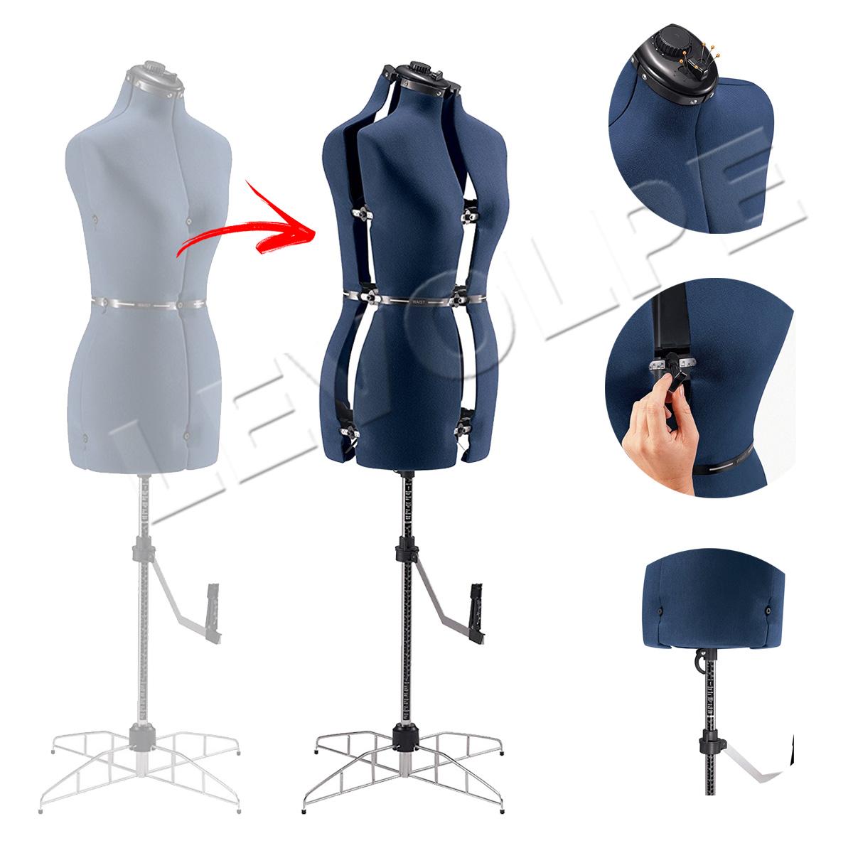 Manequim Ajustavel Regulavel Feminino Para Alfaiate Costura