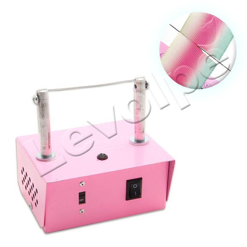 Máquina Cortar Fita Fuxico Artesanato Rosa Bivolt + Brinde