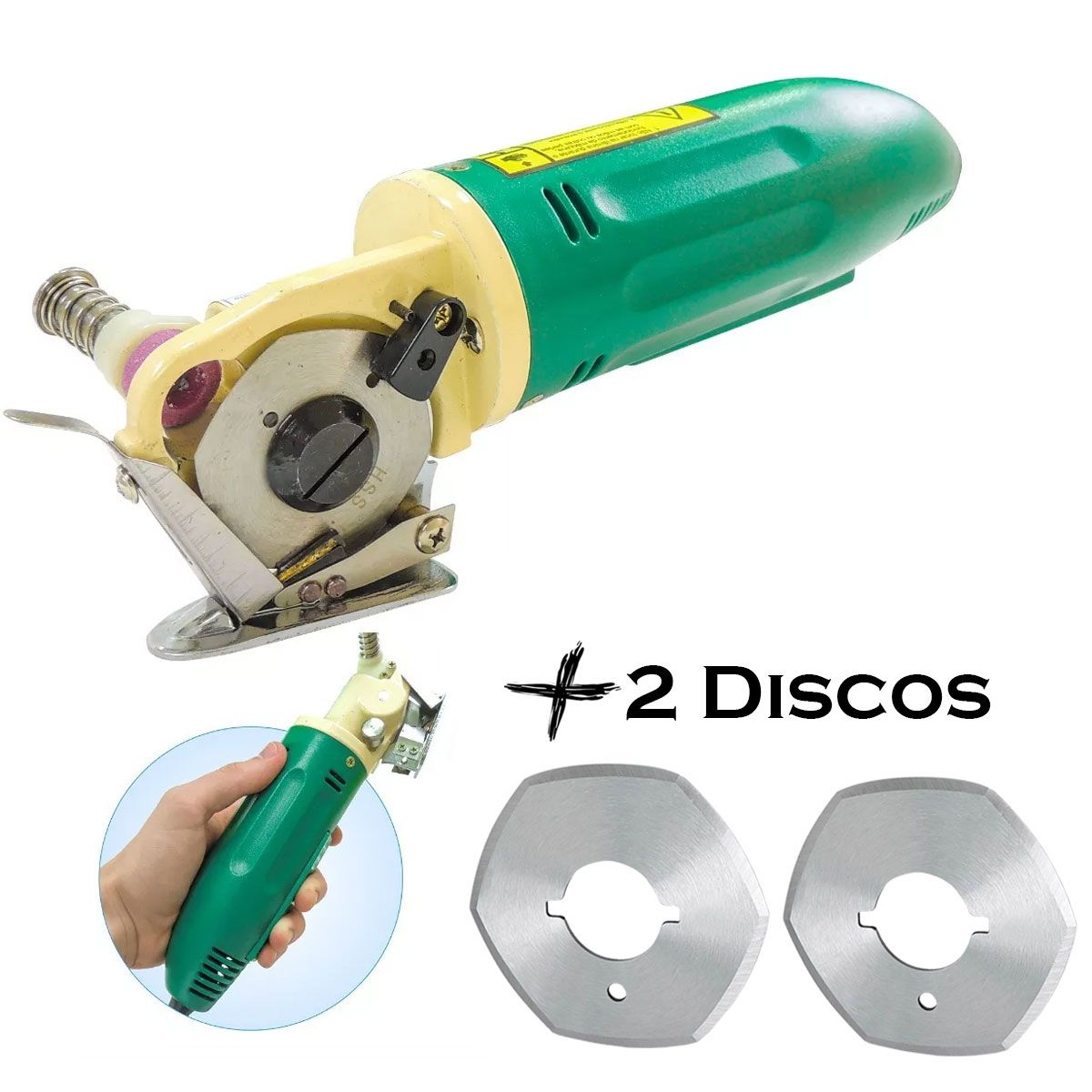 Máquina De Corte Cortar Tecido Bananinha + 2 Discos