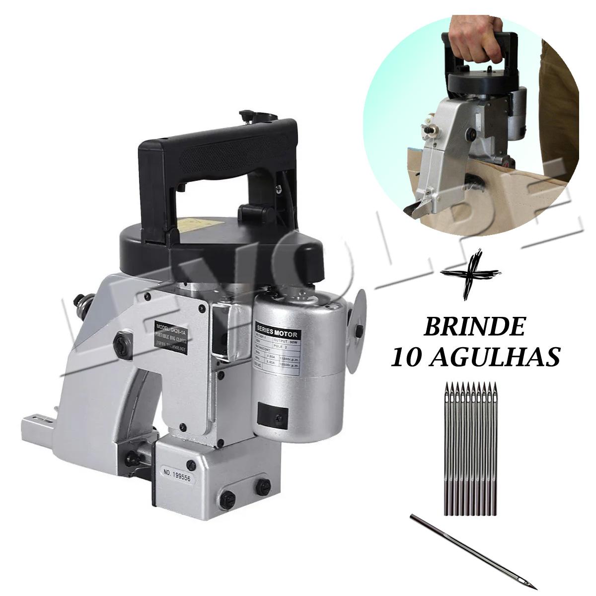 Máquina De Costura Industrial Fechadeira Sacaria Portátil