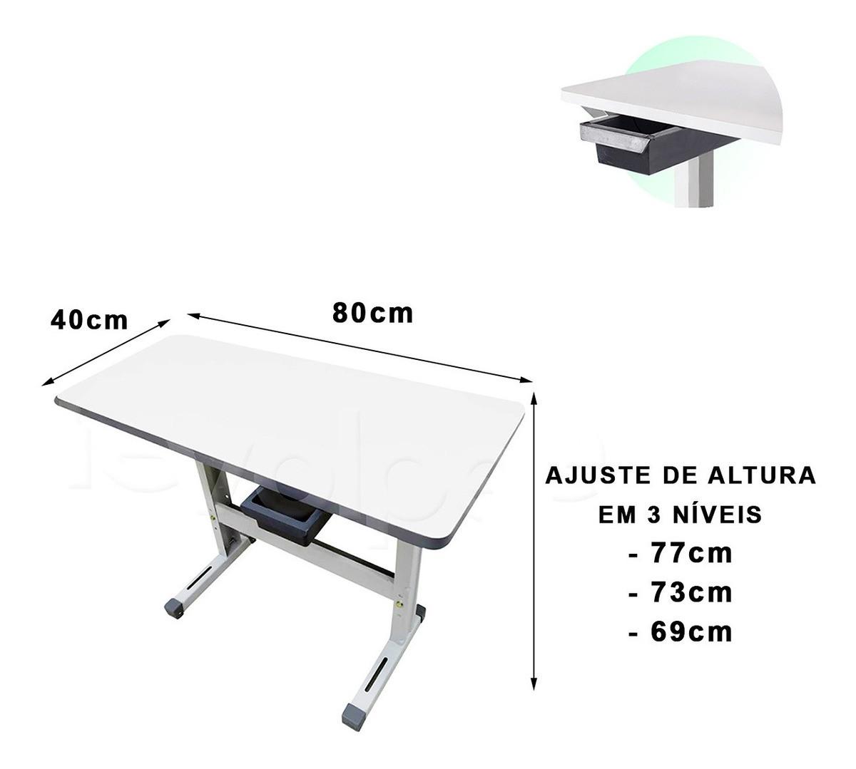 Mesa Tampo 80x40 Fechada Bancada Máquina Costura Doméstica