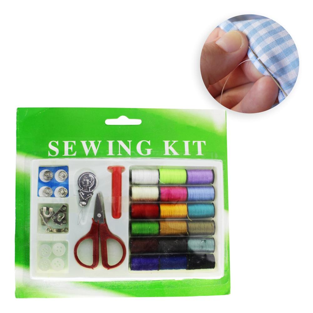 Mini Kit De Reparo Rápido Viagem Costura Manual 18 Linhas