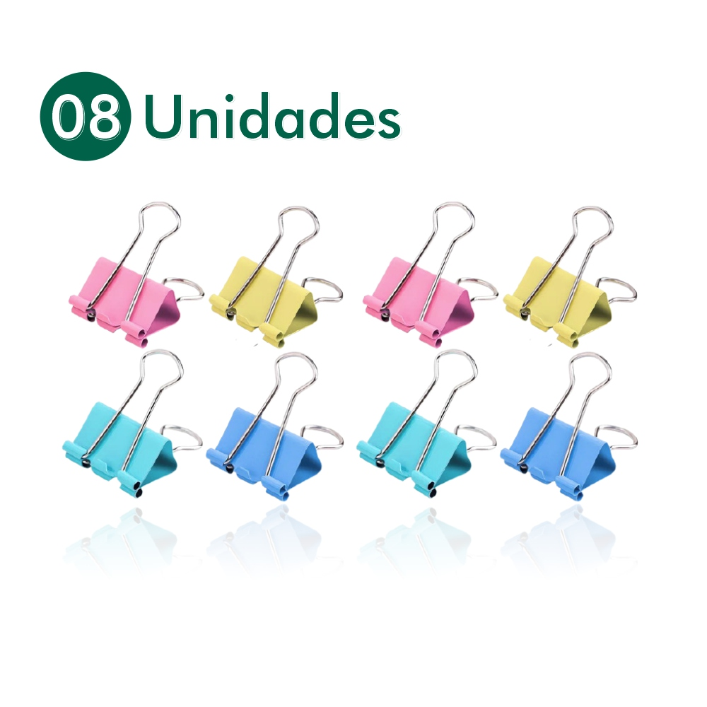 Mini Prendedor Colorido De Papel Cartela 8 Un Scrapbook