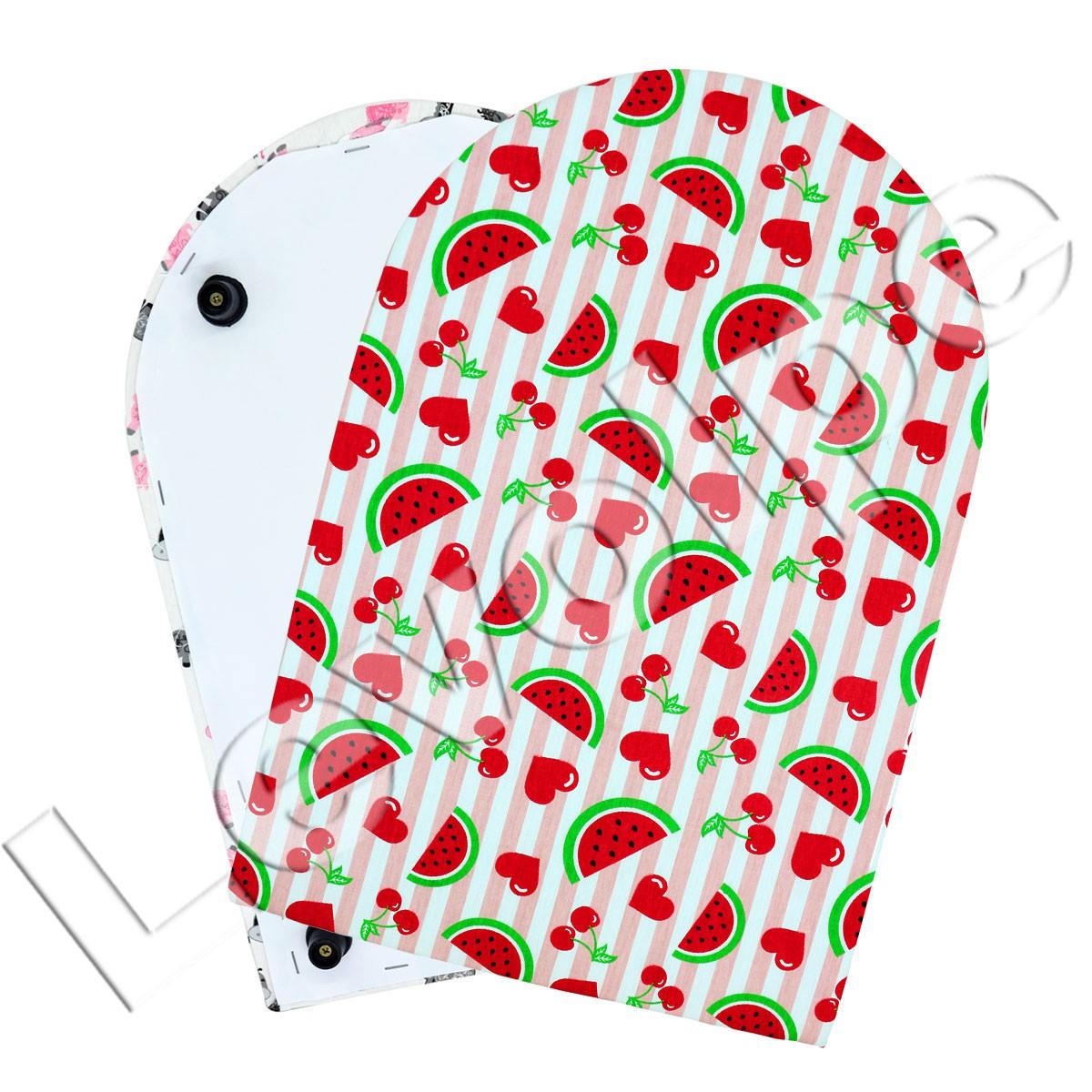 Mini Tábua Portátil De Passar Roupa Scrapbook Patchwork - (Estampa Aleatória)
