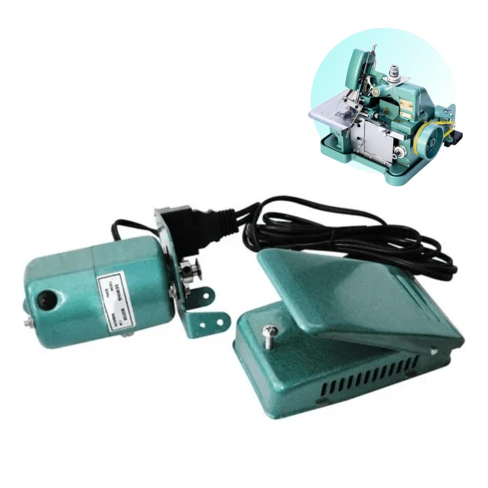 Motor E Pedal Maquina Overlock Gn1 Verdinha Semi Industrial