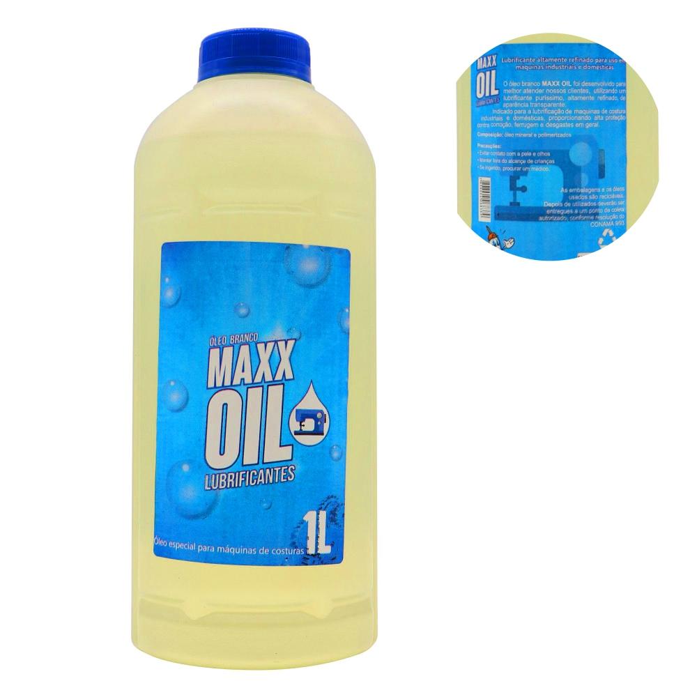 Óleo Branco Lubrificante Maxx Oil Para Máquina 1 Litro