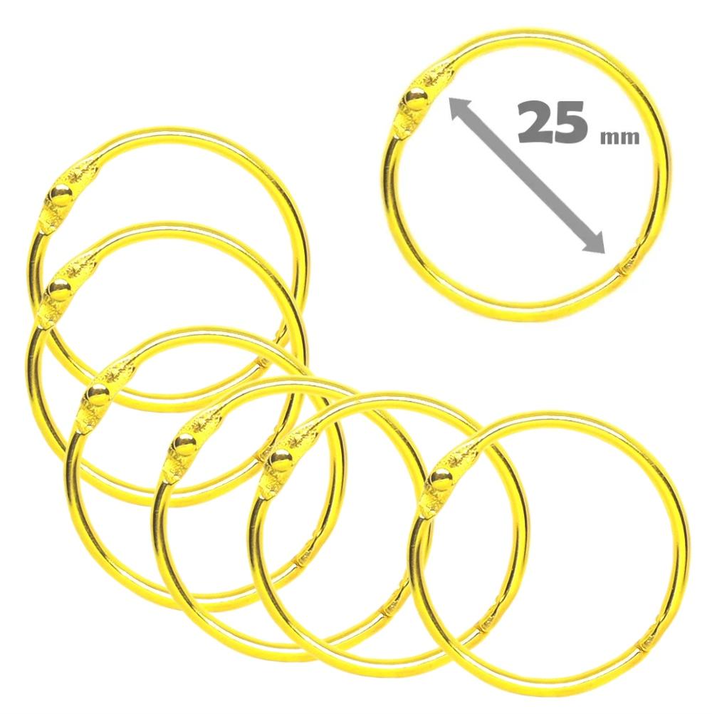 Pacote Com 20 Argolas Articulada 2,5cm (25mm) Dourada