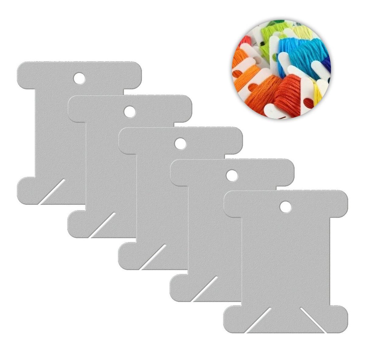Placa De Enrolar Linhas Meada Pacote Com 20 Unidades 4cm