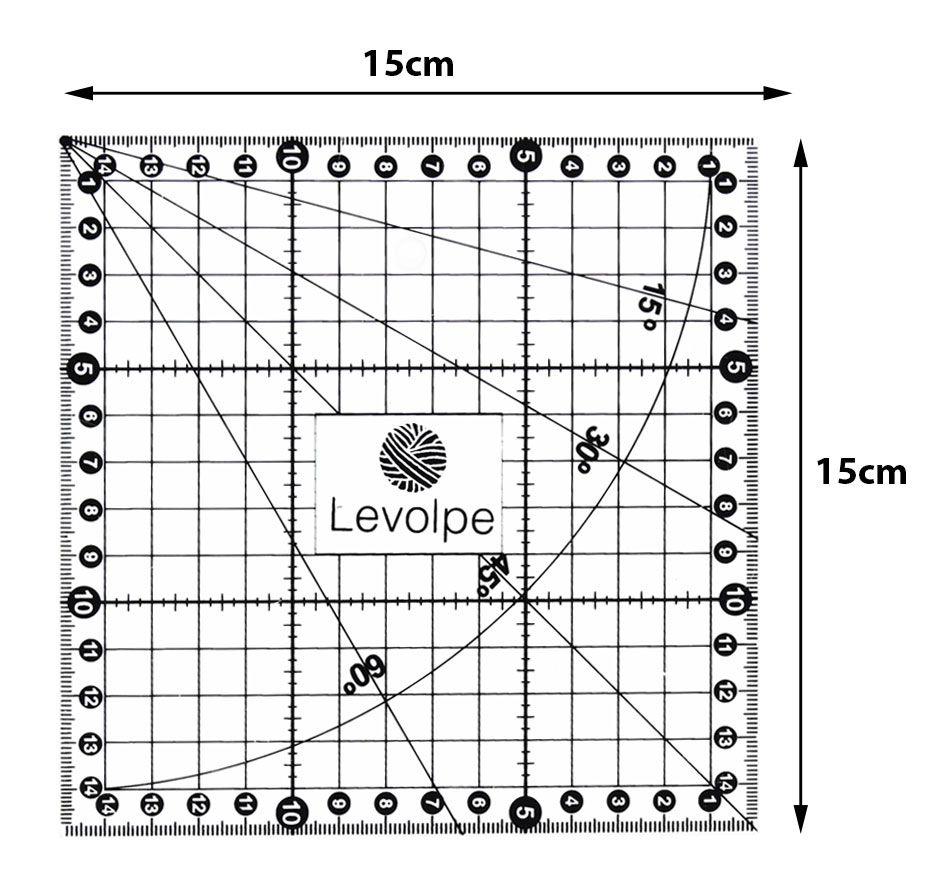 Regua 15x15 Cm Milimetrada Patchwork