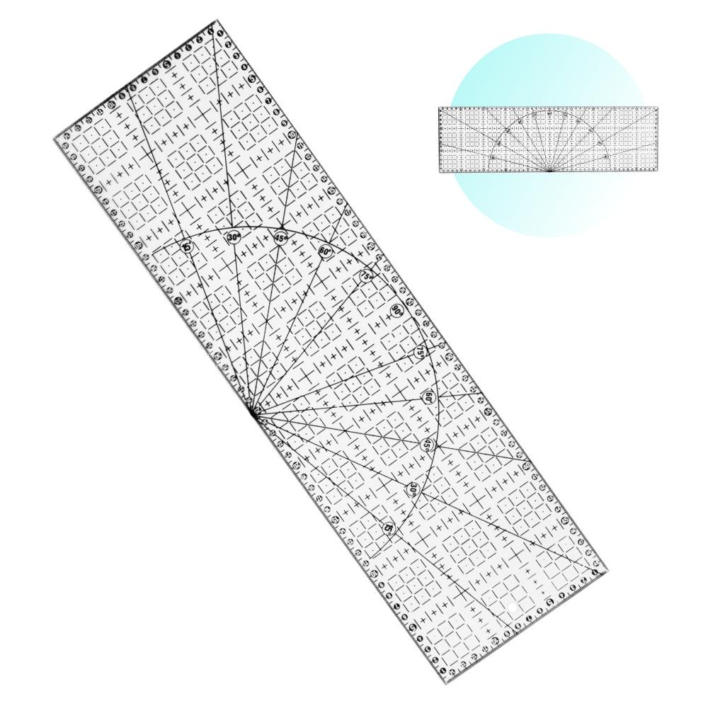 Régua 15X50cm Acrílico Para Artesanato Patchwork Scrapbook
