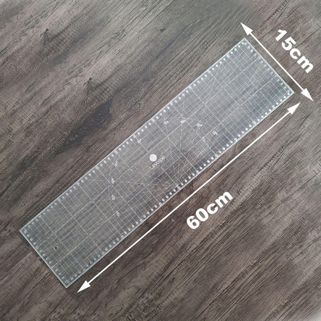 Régua 15x60 Cm Para Patchwork Gravada à Laser
