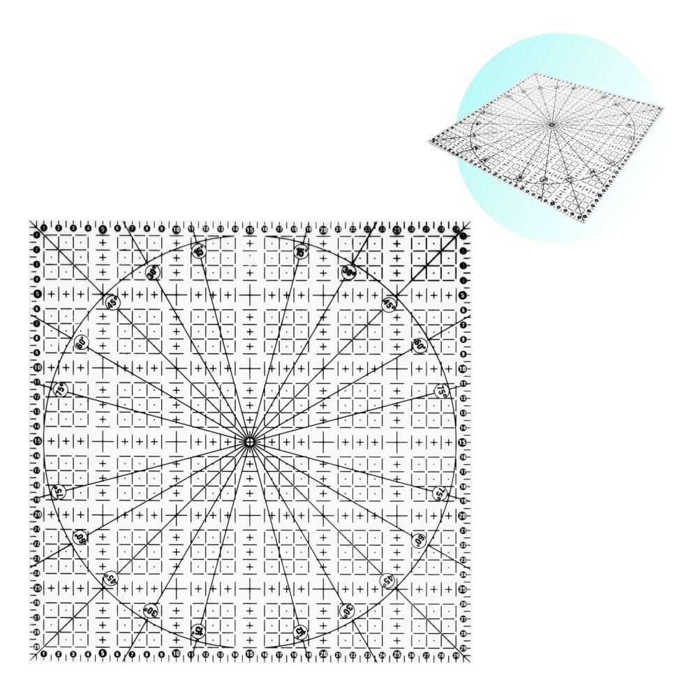 Régua 30x30cm Acrílico Para Artesanato Patchwork Scrapbook