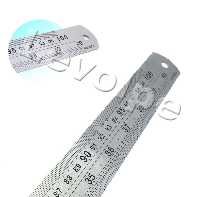 Régua Aço Inox 1 Metro 40 Pol. Patchwork Artesanato 100 Cm