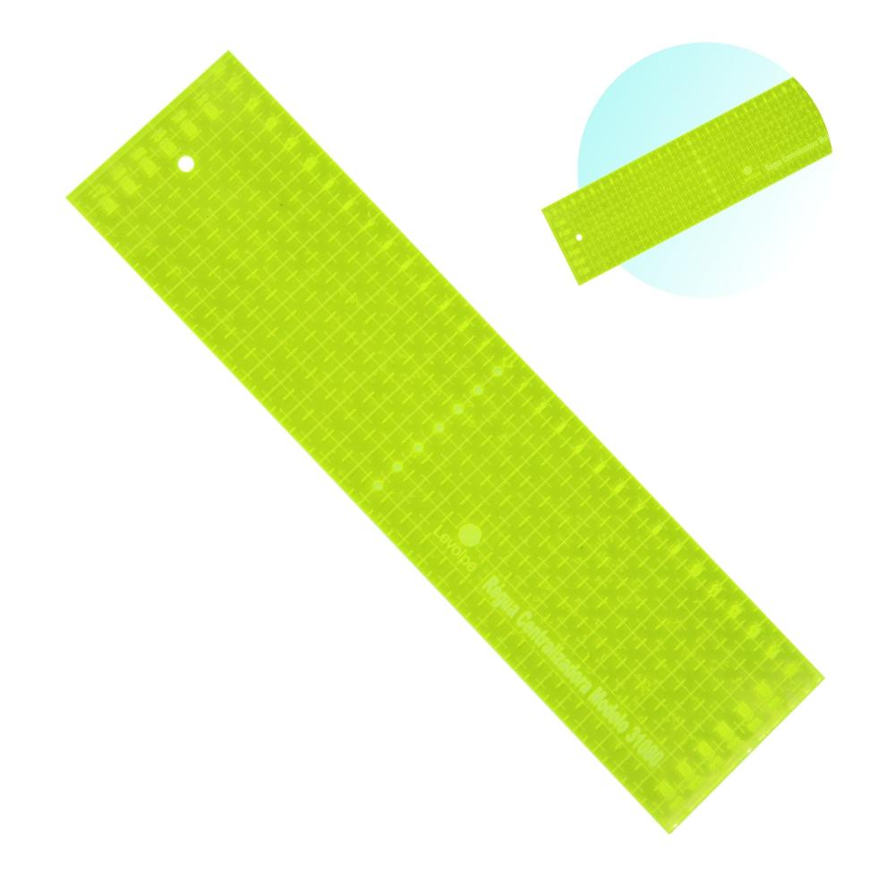 Regua Centralizadora Auxiliar de Costura Verde Flourescente