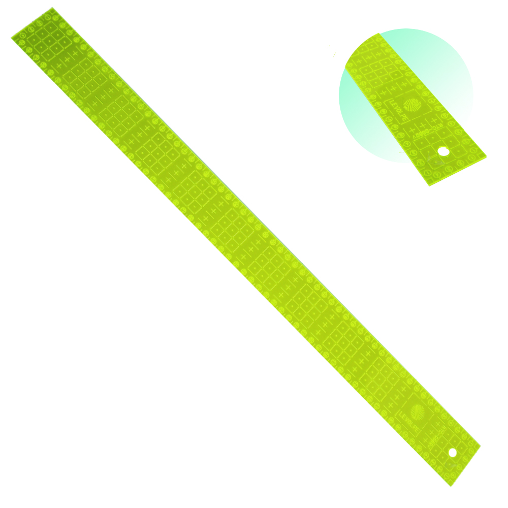 Régua Corte Para Patchwork Scrapbook 05x60cm Acrílico Verde