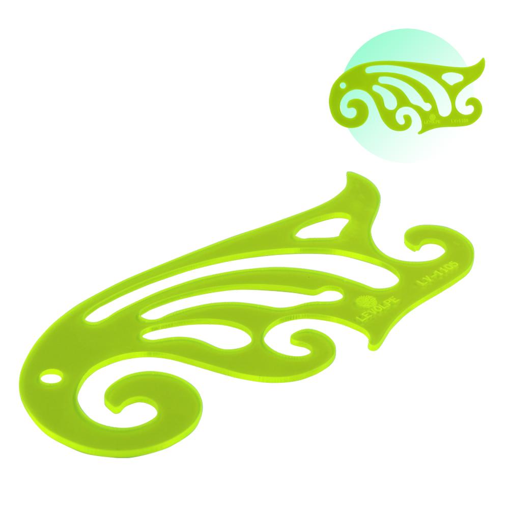 Régua Curva Francesa 1105 Acrílico Verde Patchwork Modelista