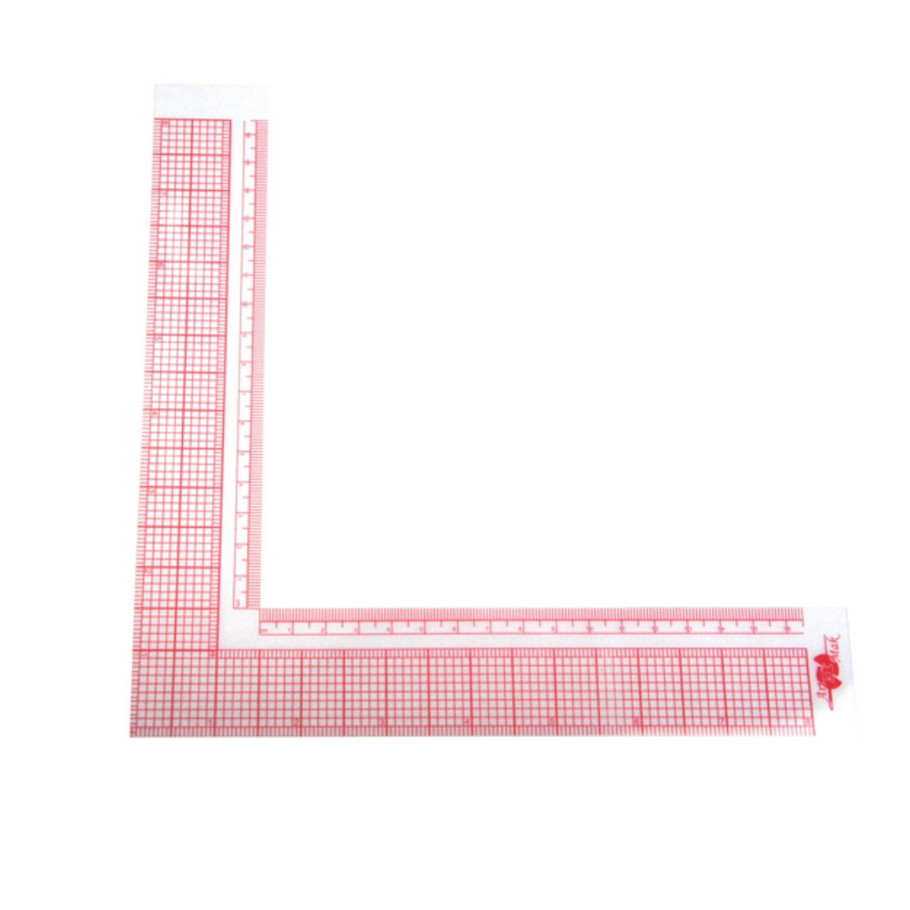 Régua De Corte Esquadro Modelagem Flexível Acrílico 16x16cm