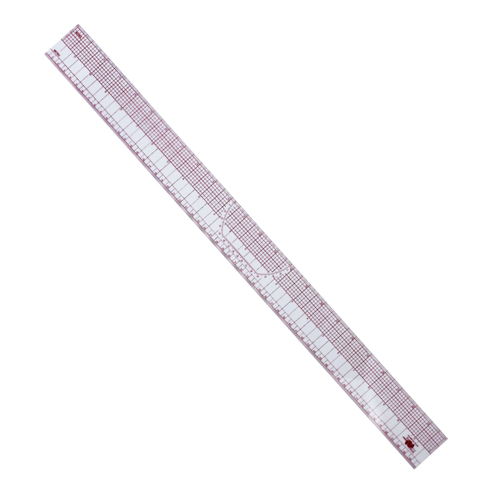 Régua De Corte Modelagem Flexível Ângulos Acrílico 05X60cm