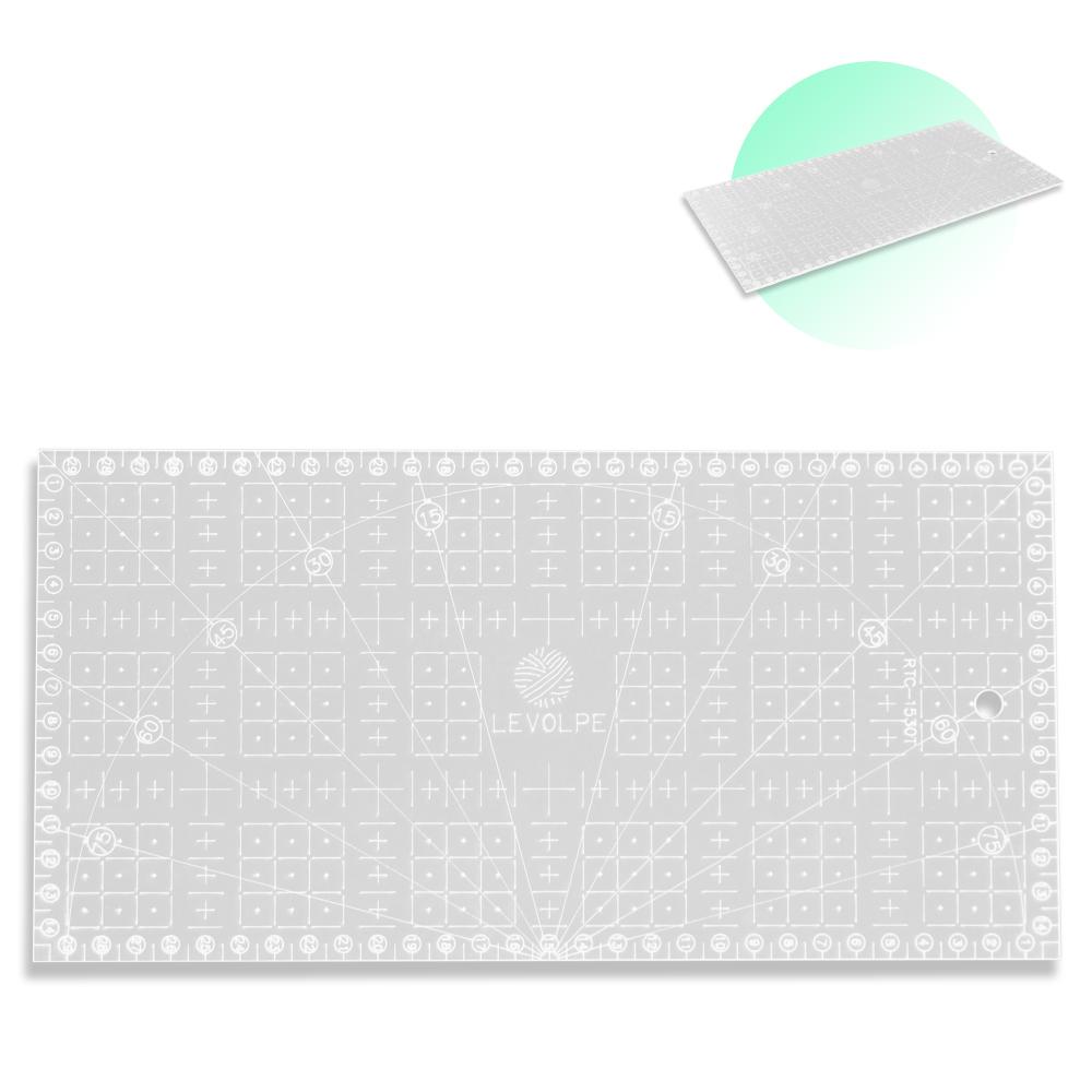 Régua De Corte Para Patchwork  Scrapbook 15x30cm Acrílico