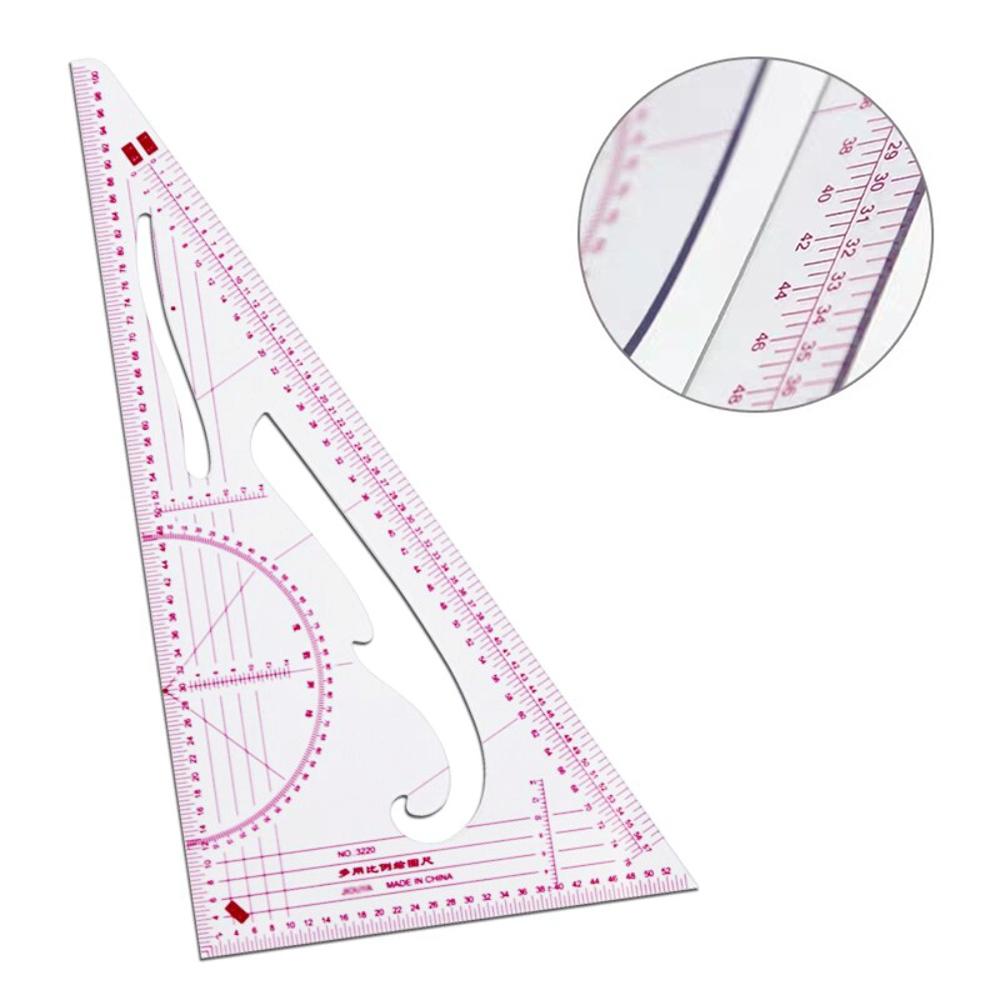 Régua Esquadro Triangular Flexível Modelagem Artesanato