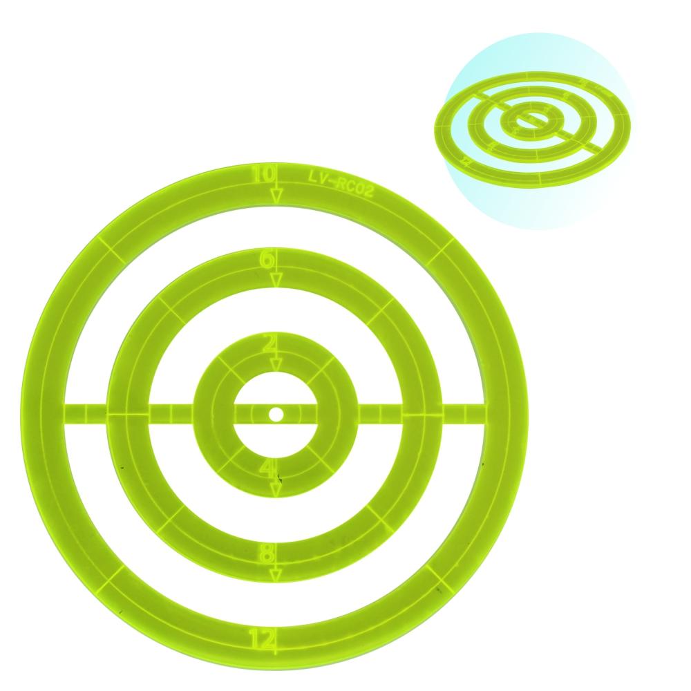Régua Para Patchwork Scrapbook Redonda 12cm Acrílico Verde
