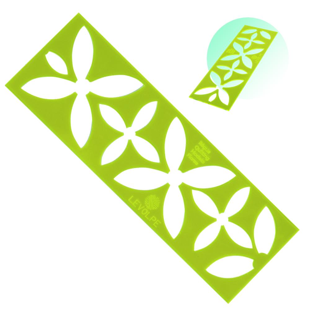 Regua Quilting Flor Costura Criativa 24x8cm Patchwork Verde