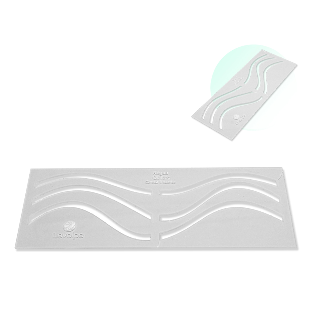 Regua Quilting Ondas Incertas Acrilico 9,5 X 25 cm Costura