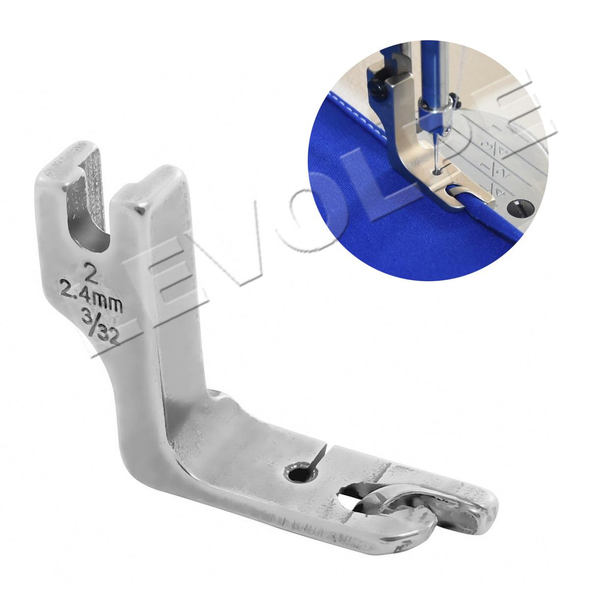 Sapata Calcador Bainha Enrolada 2.4mm Reta Industrial