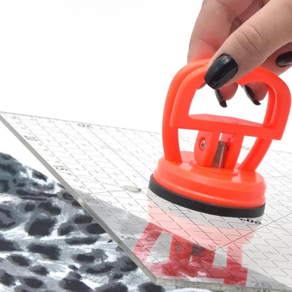 Suporte Ventosa Apoio Para Segurar Regua Patchwork Scrapbook
