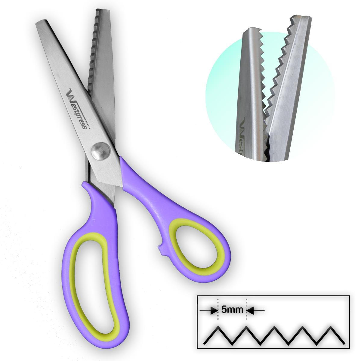 Tesoura Profissional Picotar Corta Tecido Papel Zig Zag 5mm