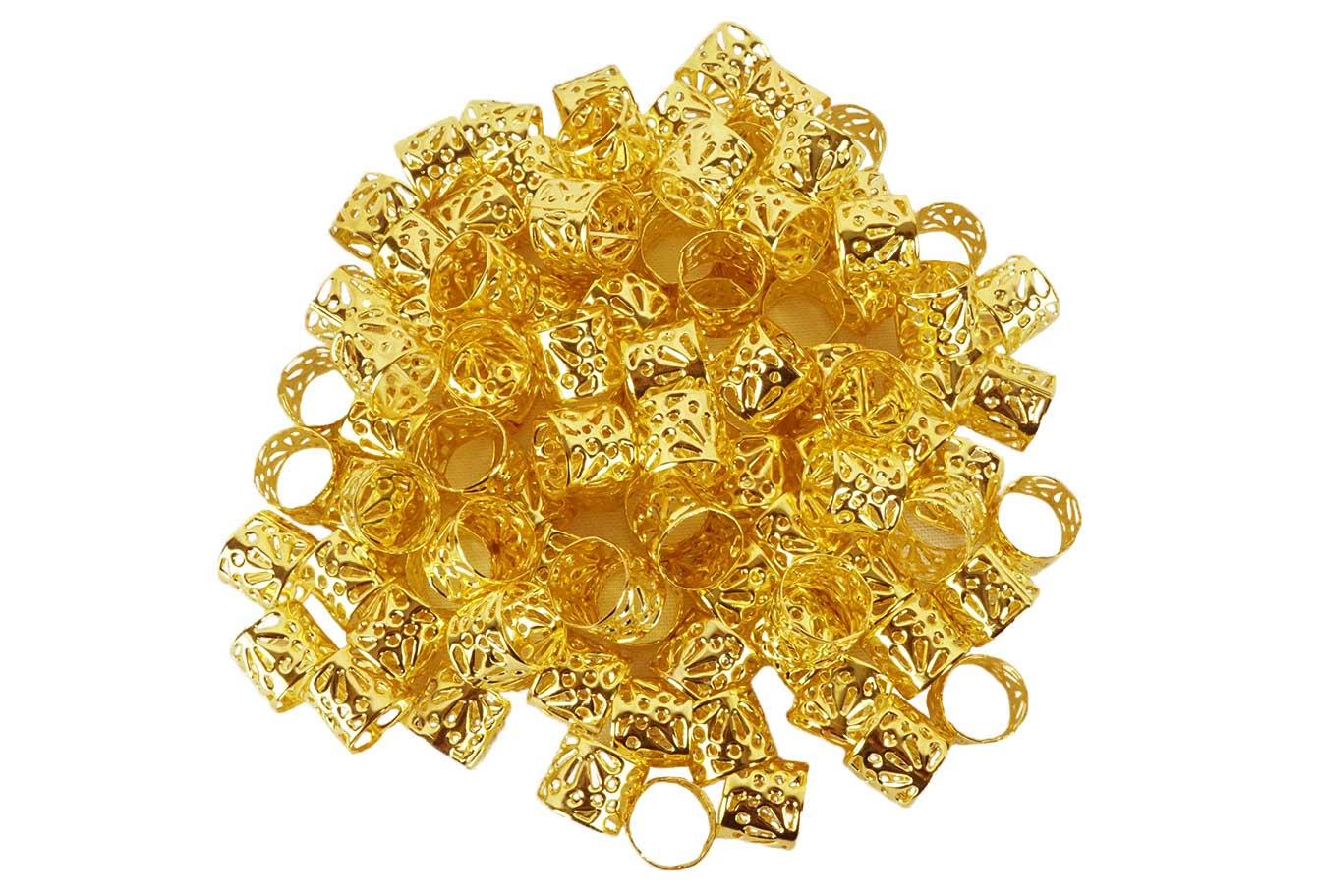 Anéis para Tranças Pacote com 100 un - Coral